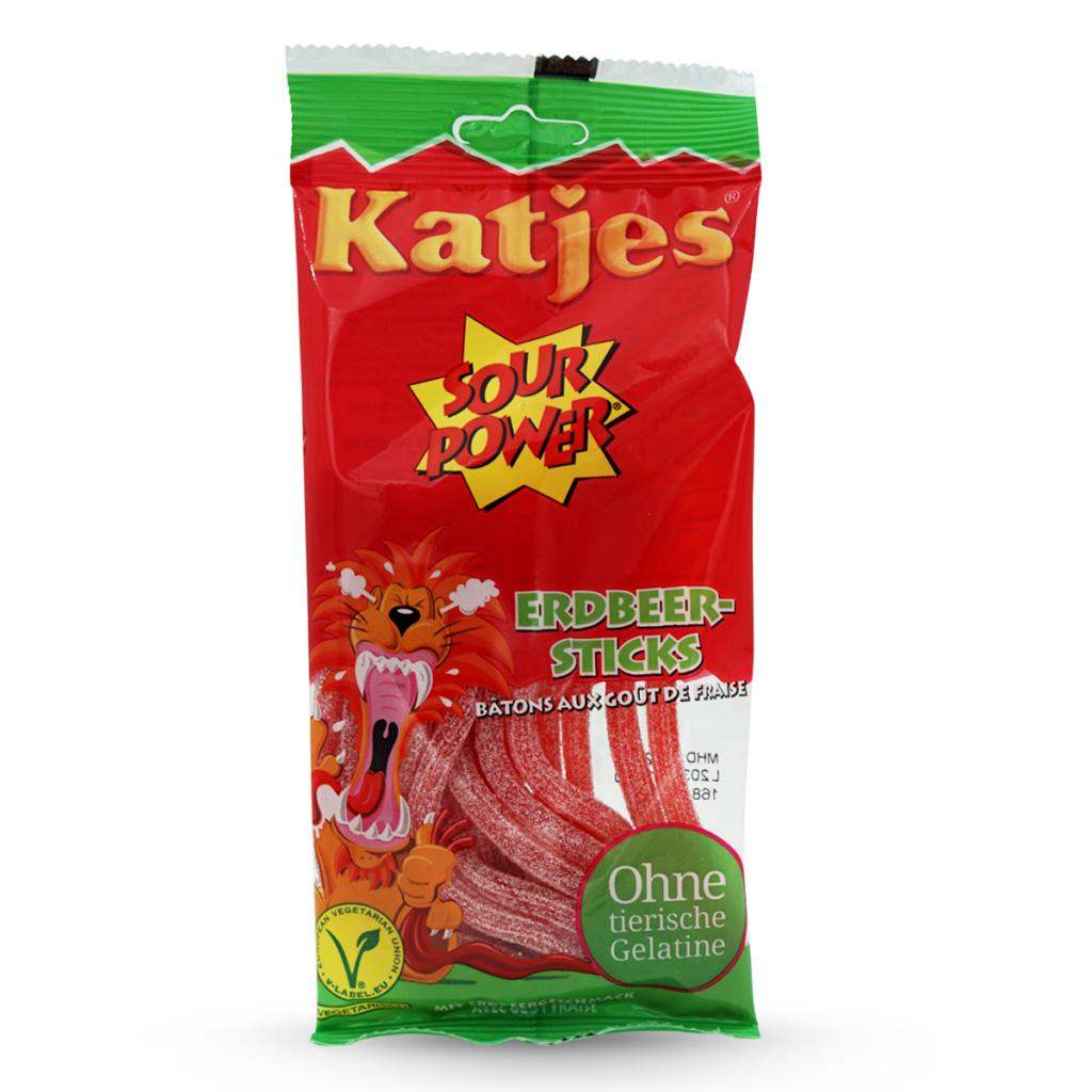 Katjes Gummibonbons Sour Power Erdbeer