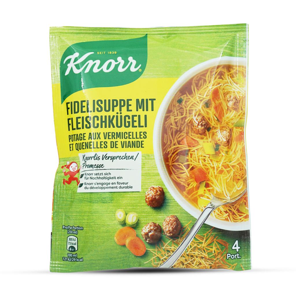 Knorr Fideli mit Fleischkügeli