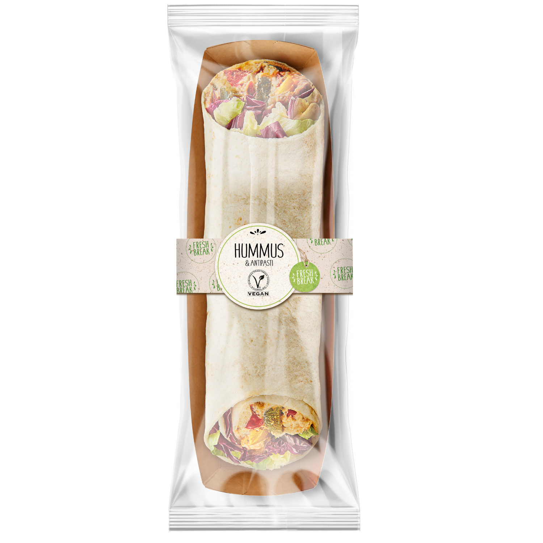 Wrap Hummus & Antipasti