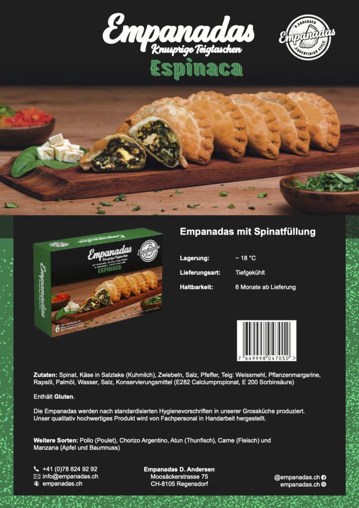 Empanadas mit Spinatfüllung 6Stk.