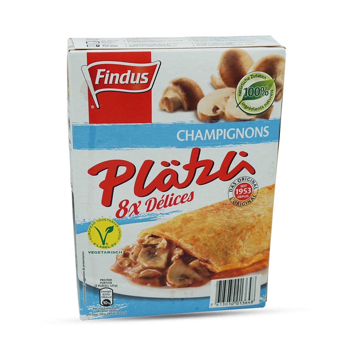 Findus Plätzli mit Champignons 8 Stk.