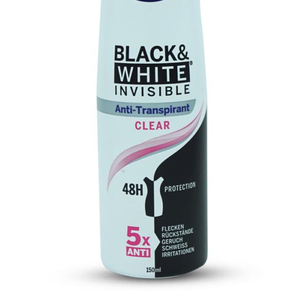 Nivea Black & White Invisible Clear Spray Deodorant