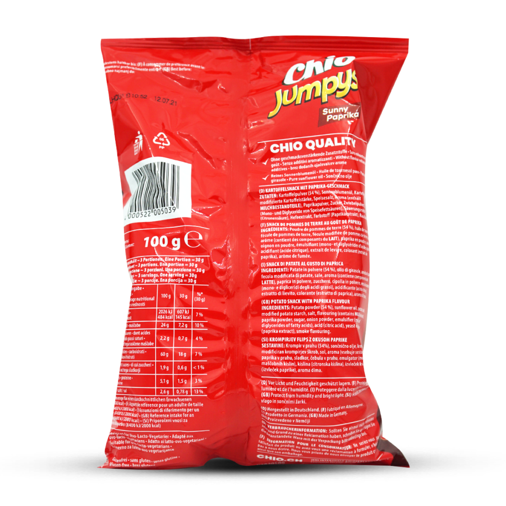 Chips Jumpys Paprika