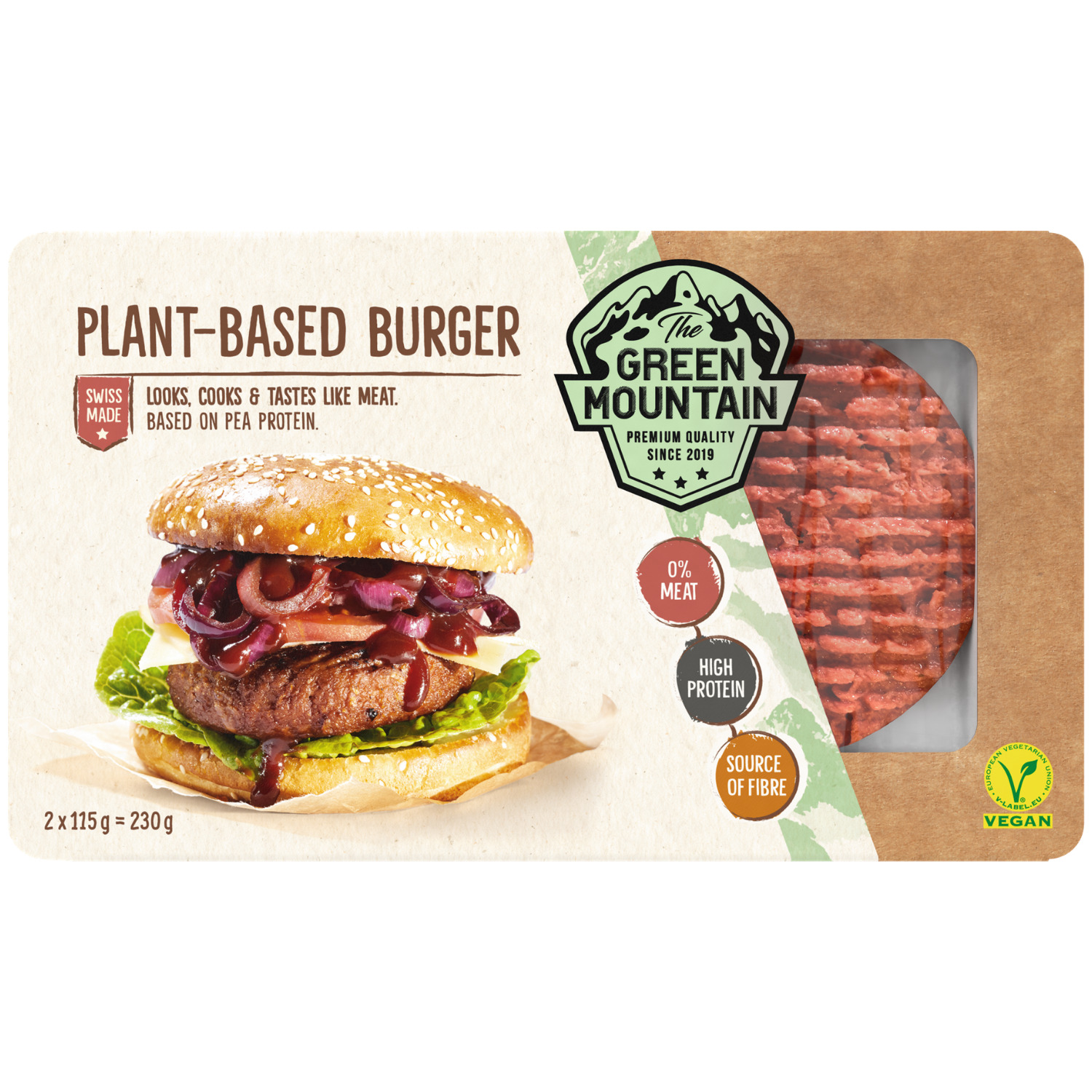 The Green Mountain Plant-Based Burger