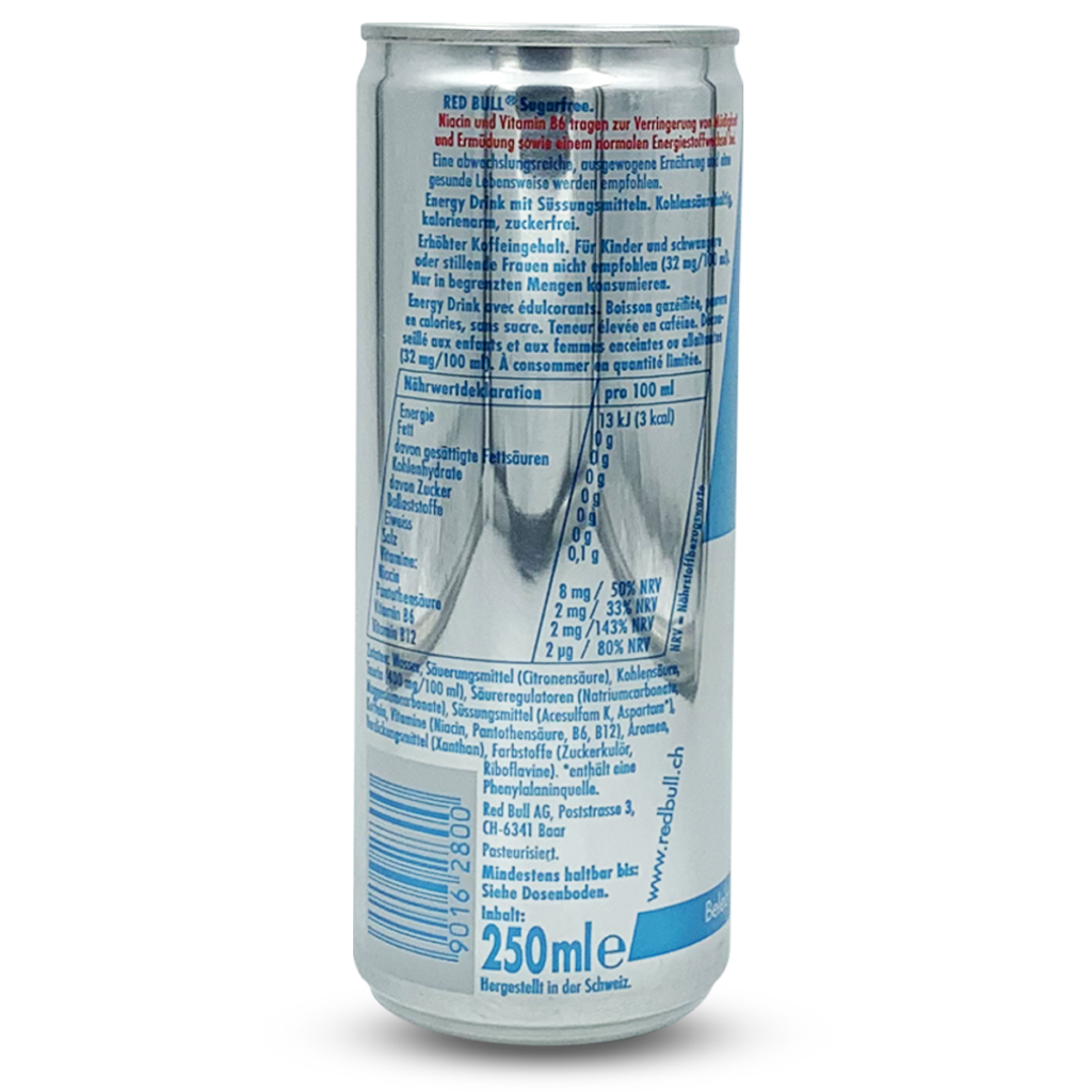 Red Bull Energy Drink ohne Zuckerzusatz