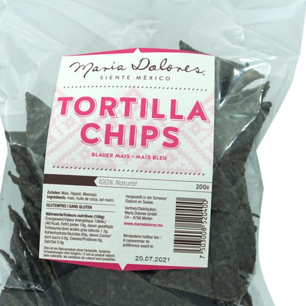 Maria Dolores Tortilla Chips Blauer Mais