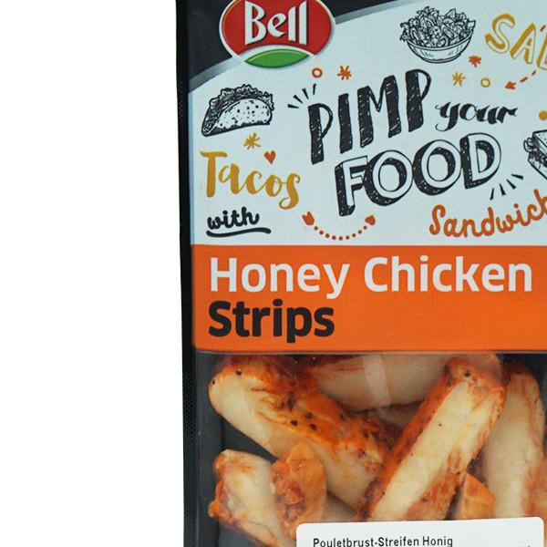 Bell Pouletbrust geschnitten an Honig-Barbecue-Sauce