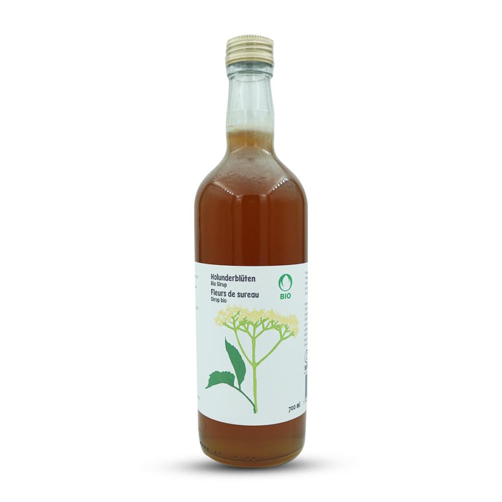 Haltbarmacherei Bio Sirup Holunderblüten