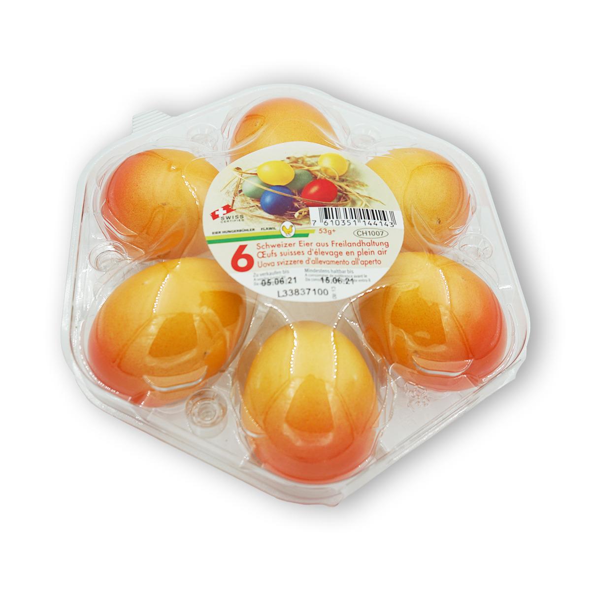 6 Schweizer Eier aus Freilandhaltung