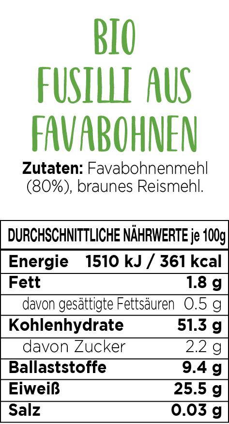 Explore Cuisine Bio Fusilli aus Favabohnen