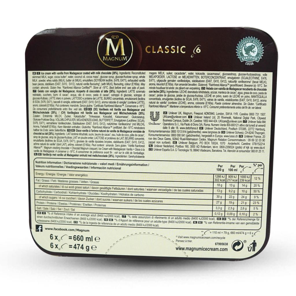 Magnum Glace Classic 6 Stk.