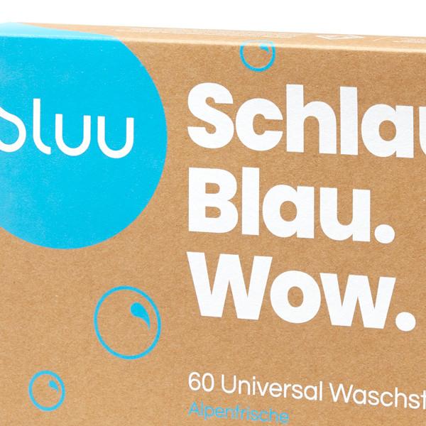 bluu Universal Waschstreifen - Alpenfrische 60 Stk.