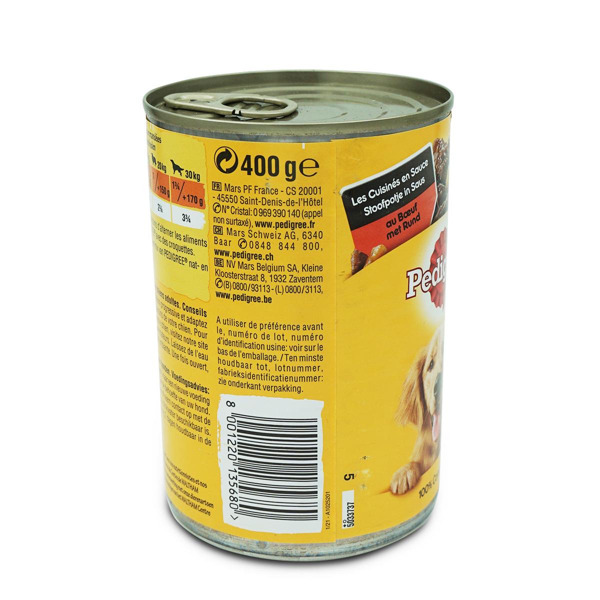 Pedigree Dose mit Rind in Sauce