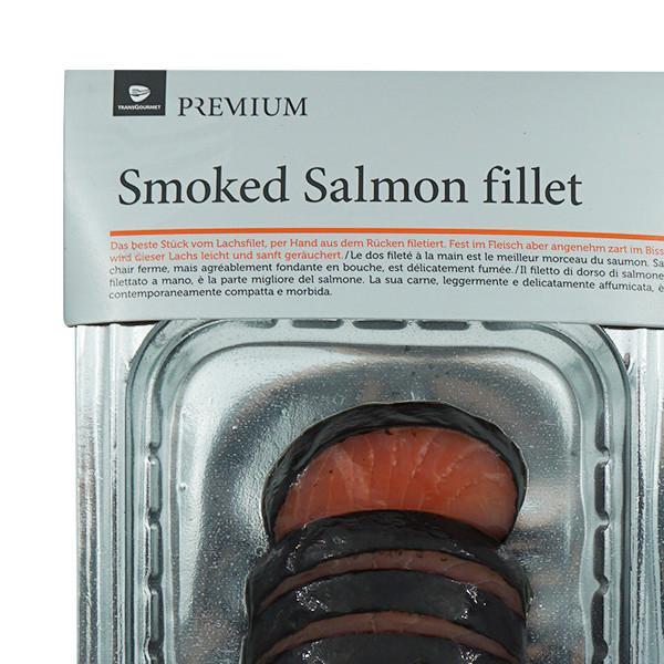Premium Rauchlachs Rücken Filet Nori, kalt , geräucht