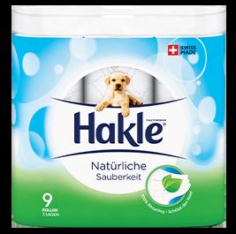 """Hakle Toilettenpapier """"Natürliche Sauberkeit"""", 3-lagig, 150 Blatt, FSC, 9 Rollen"""