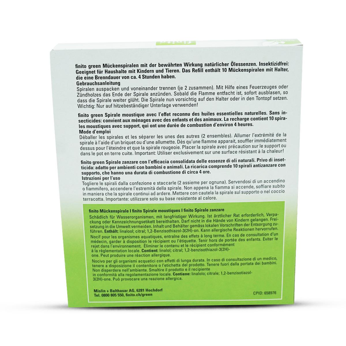 Finito Green Mückenspirale Refill 10 Stk.