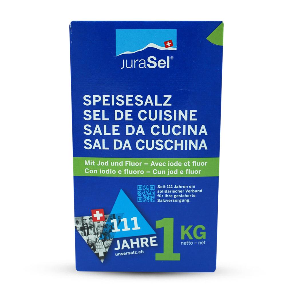 JuraSel Speisesalz mit Jod & Fluor