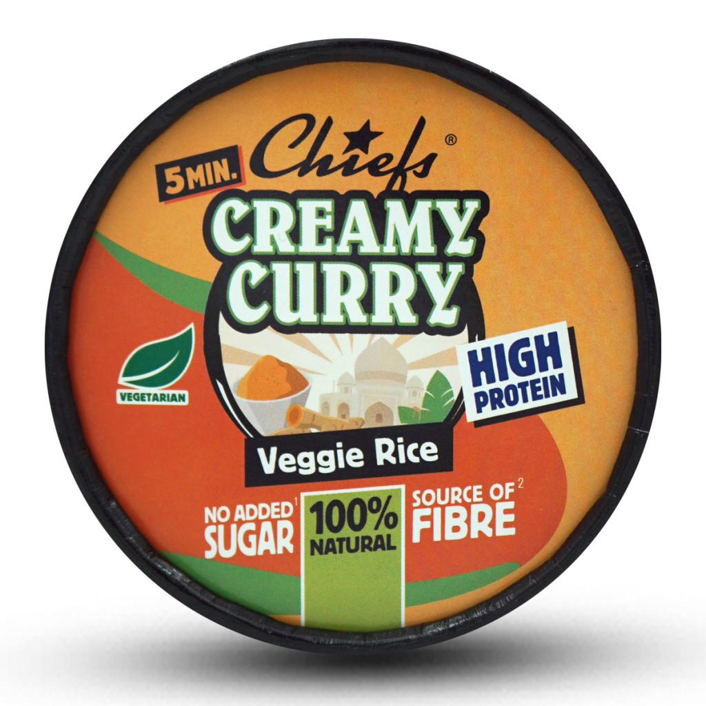 Chiefs High Protein Meal Pot Creamy Curry Veggie Rice