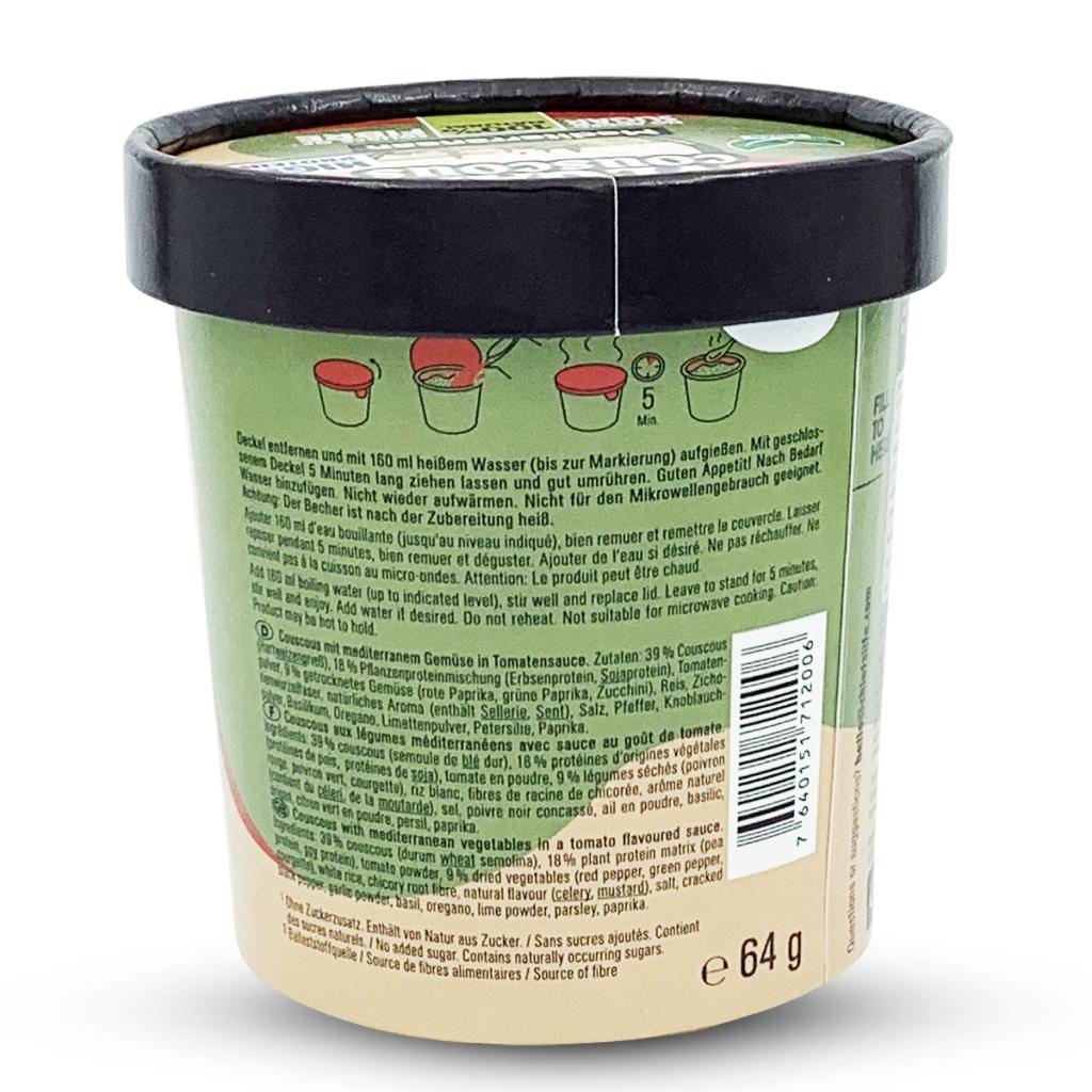 Chiefs High Protein Meal Pot Vegan Mediterranean Couscous