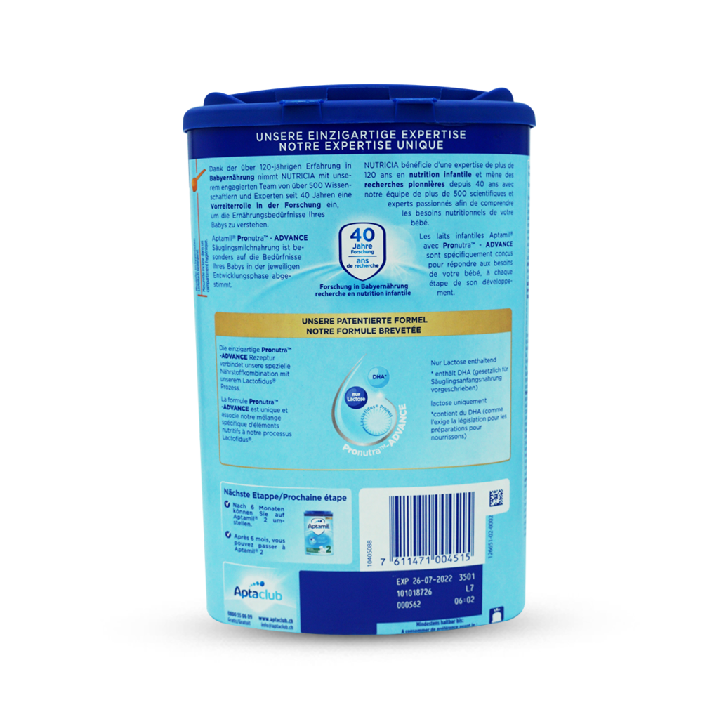 Milupa Aptamil Säuglingsmilch-Pulver 1 0+ Monate