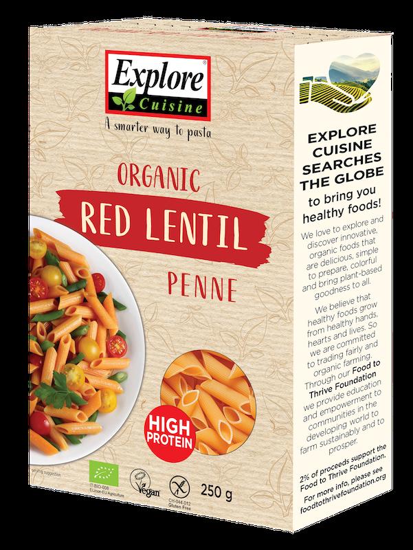 Explore Cuisine Bio Penne aus Roten Linsen