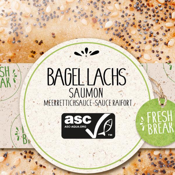 Bagel Lachs mit Meerrettichsauce