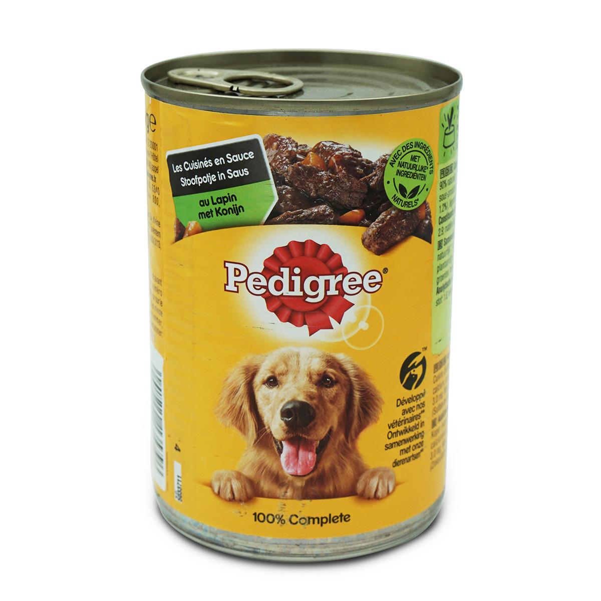 Pedigree Dose mit Kaninchen in Sauce