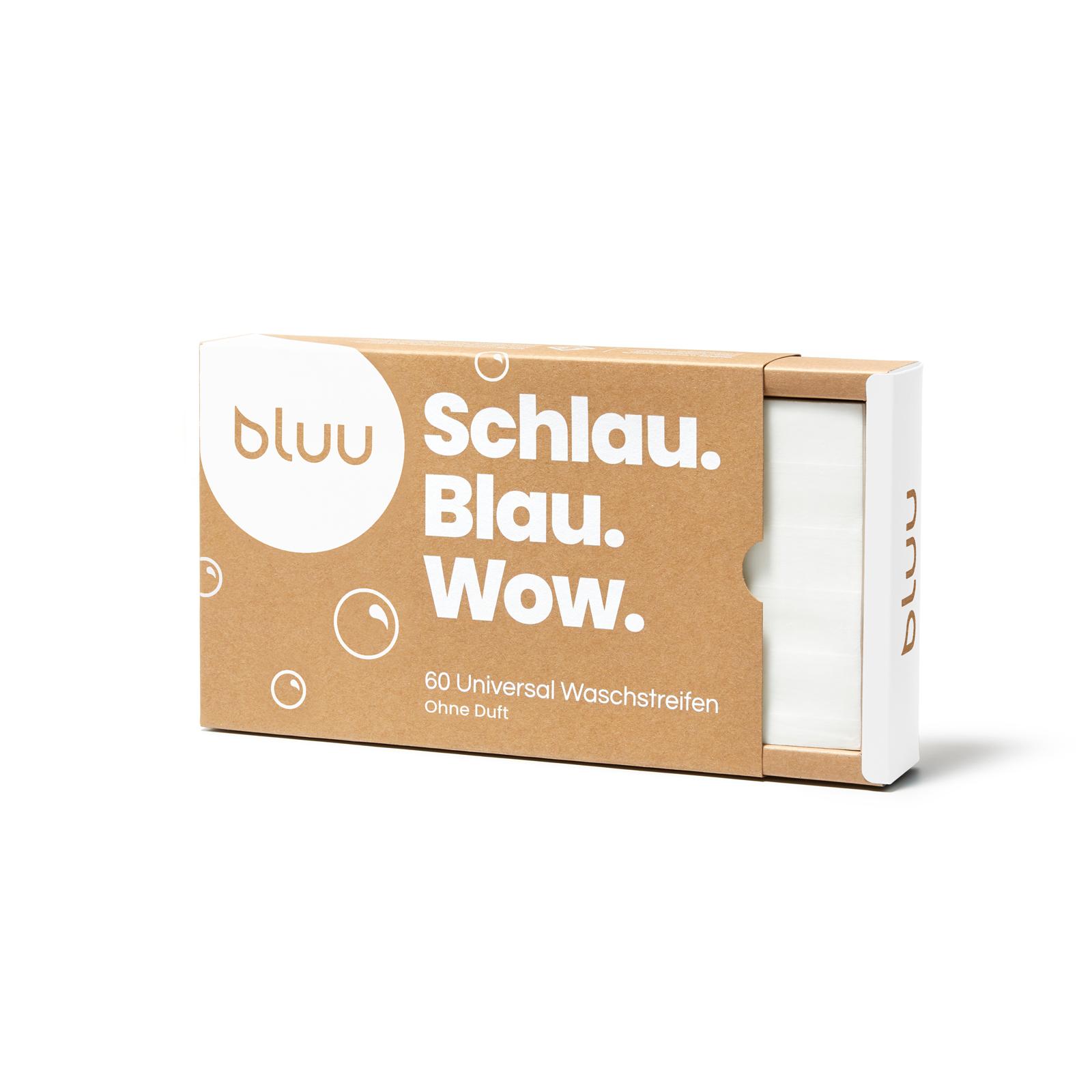bluu Universal Waschstreifen - Ohne Duft 60 Stk.