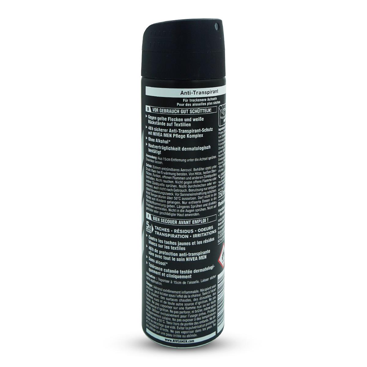 Nivea Men Deo Spray Black & White Invisible Original
