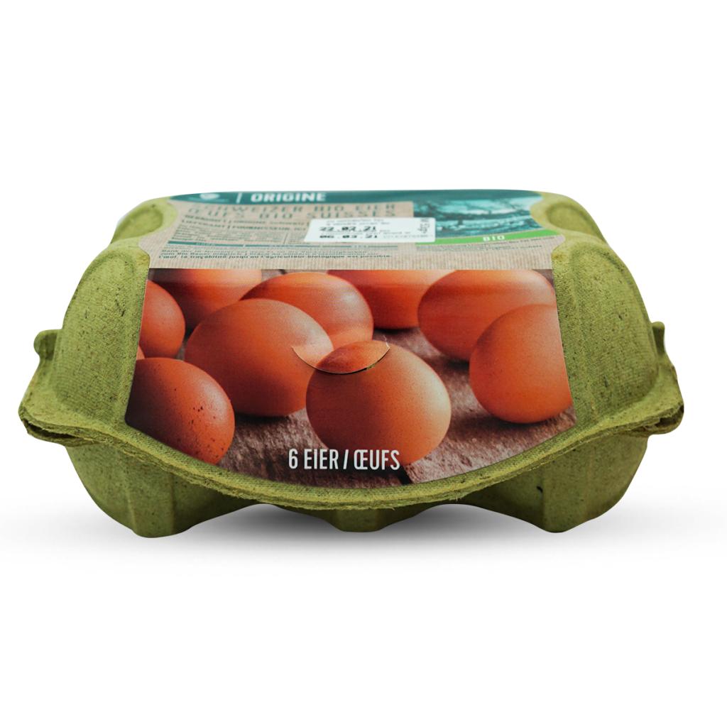 Origine Schweizer Bio Eier,  6 Eier