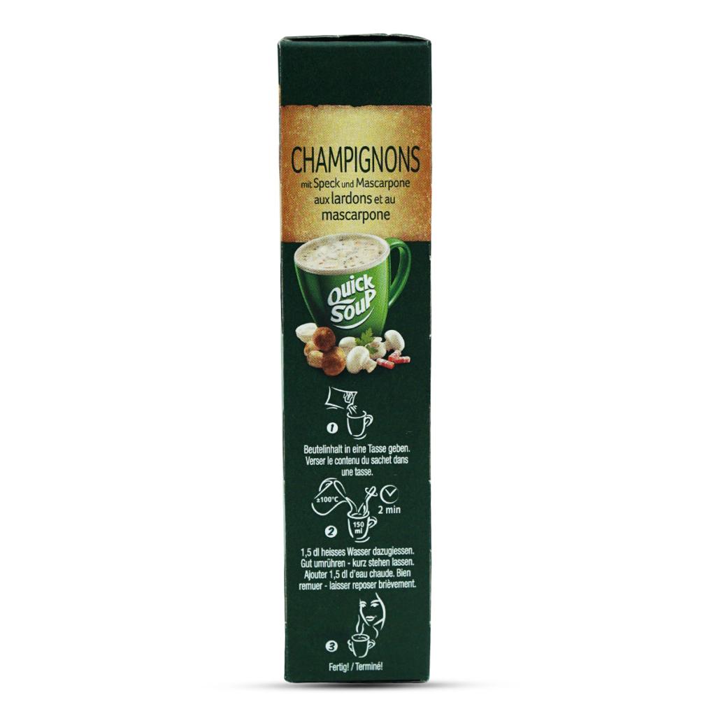 Knorr Suprême Champignonssuppe mit Speck & Mascarpone