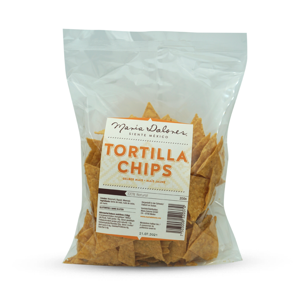 Maria Dolores Tortilla Chips Gelber Mais