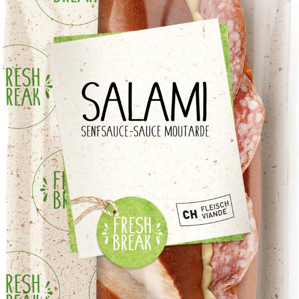 Silser Salami mit Senfsauce