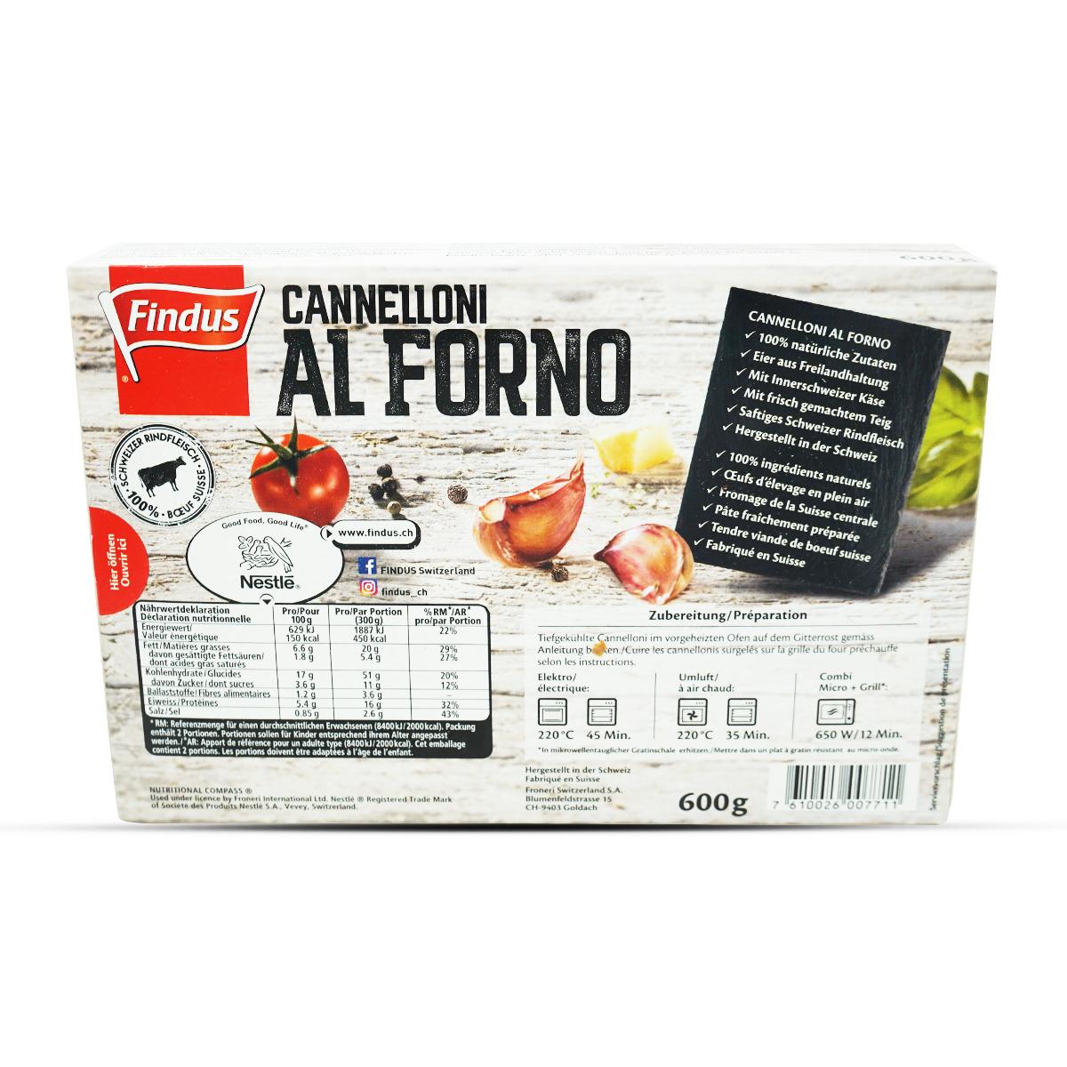 Findus Cannelloni al Forno
