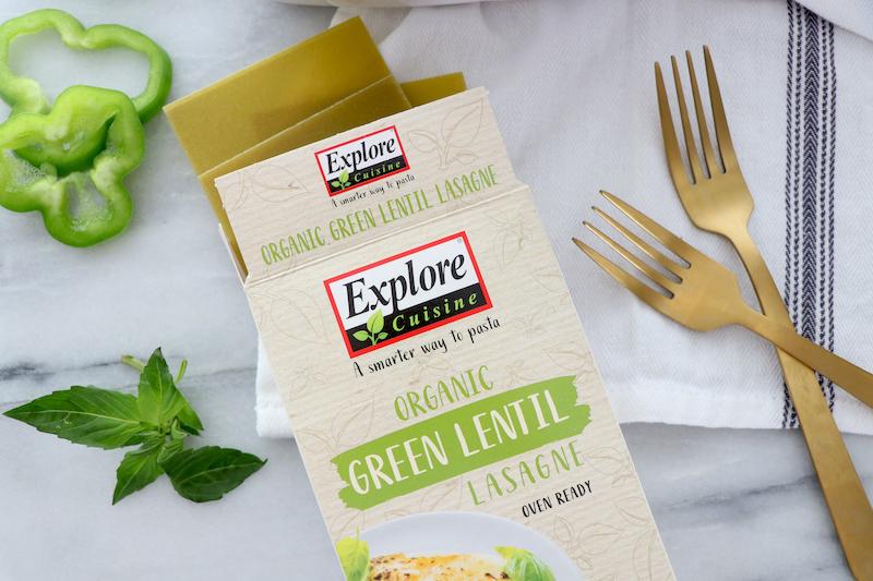 Explore Cuisine Bio Lasagne aus Grünen Linsen