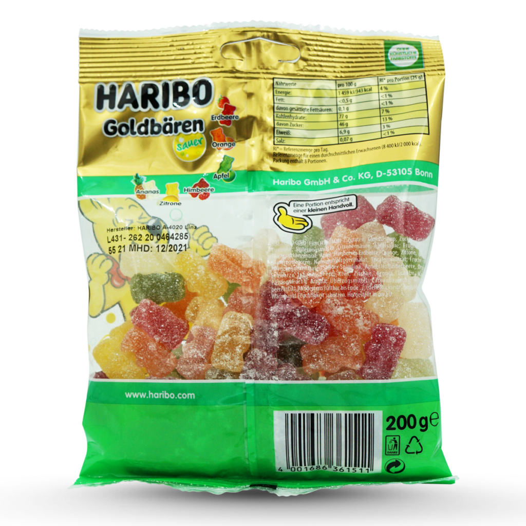 Haribo Gummibonbons Goldbären Sauer
