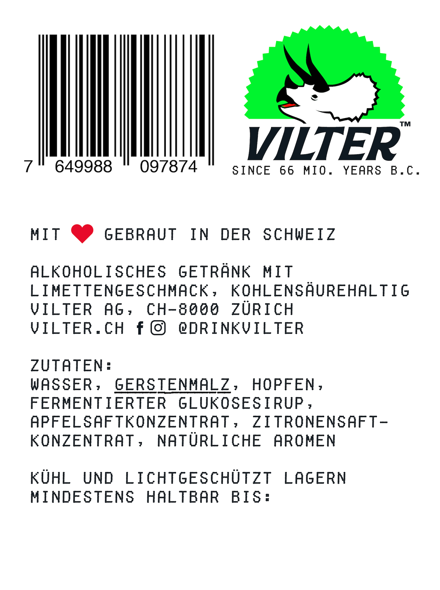 VILTER Hard Seltzer Juicy Lime