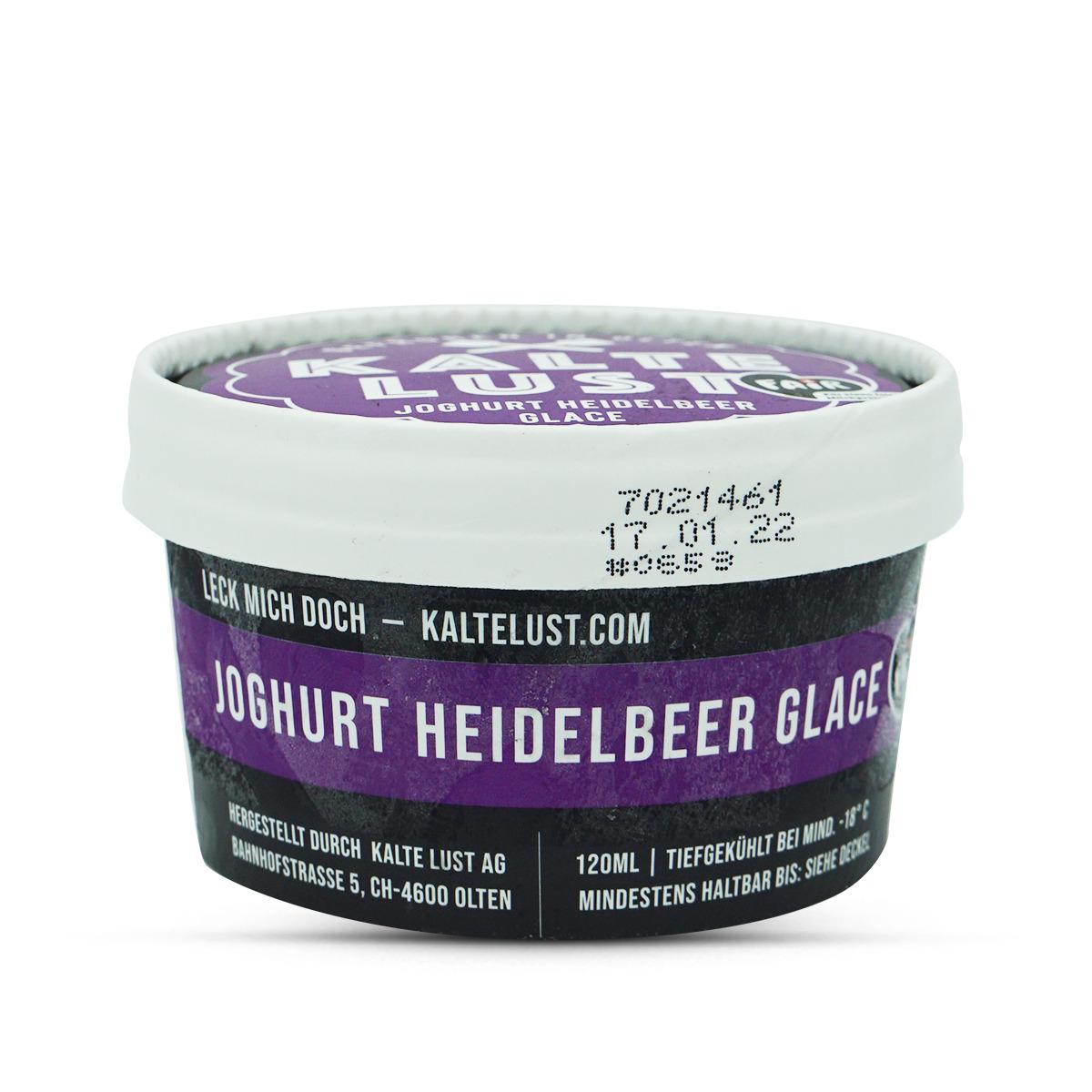 Kalte Lust Glace Joghurt Heidelbeer