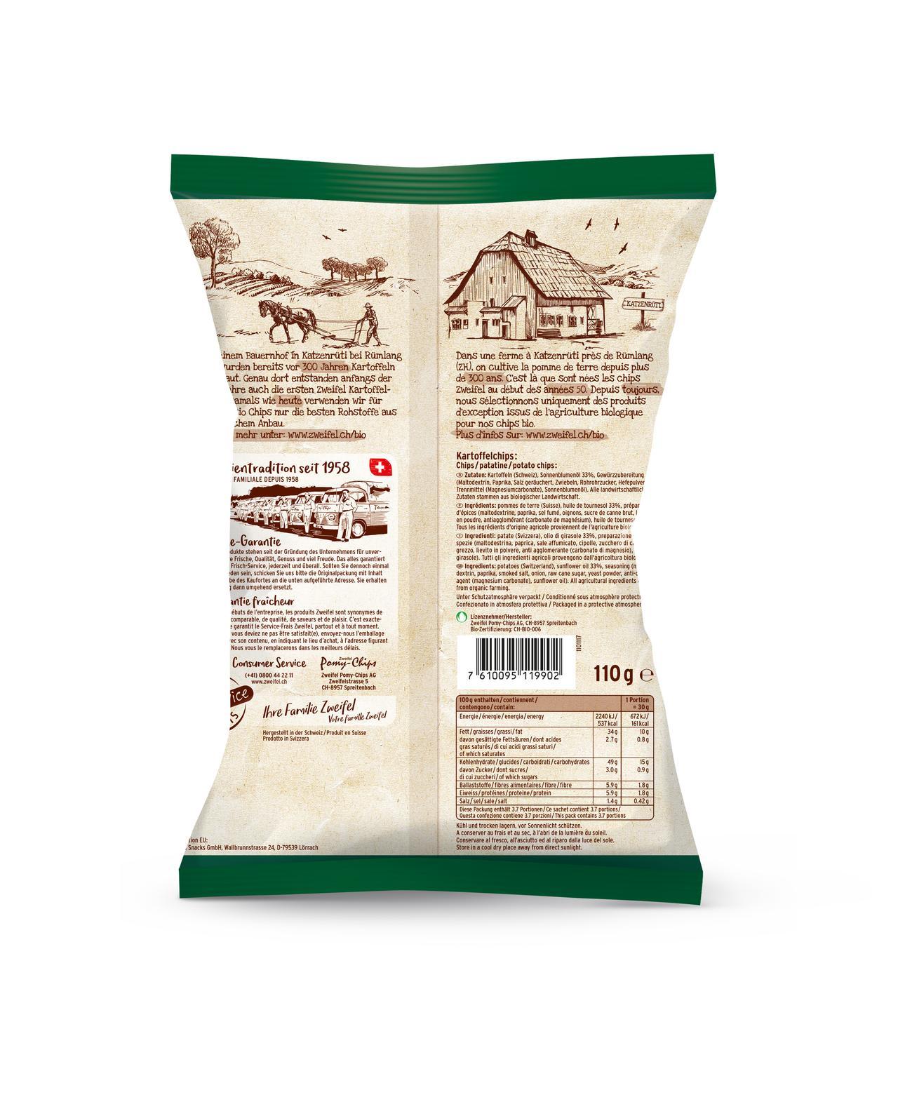 Zweifel Bio Chips Paprika