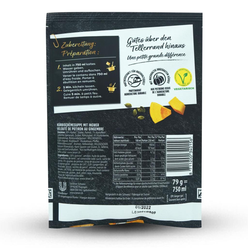 Knorr Suppe Suprême Kürbiscrème & Ingwer